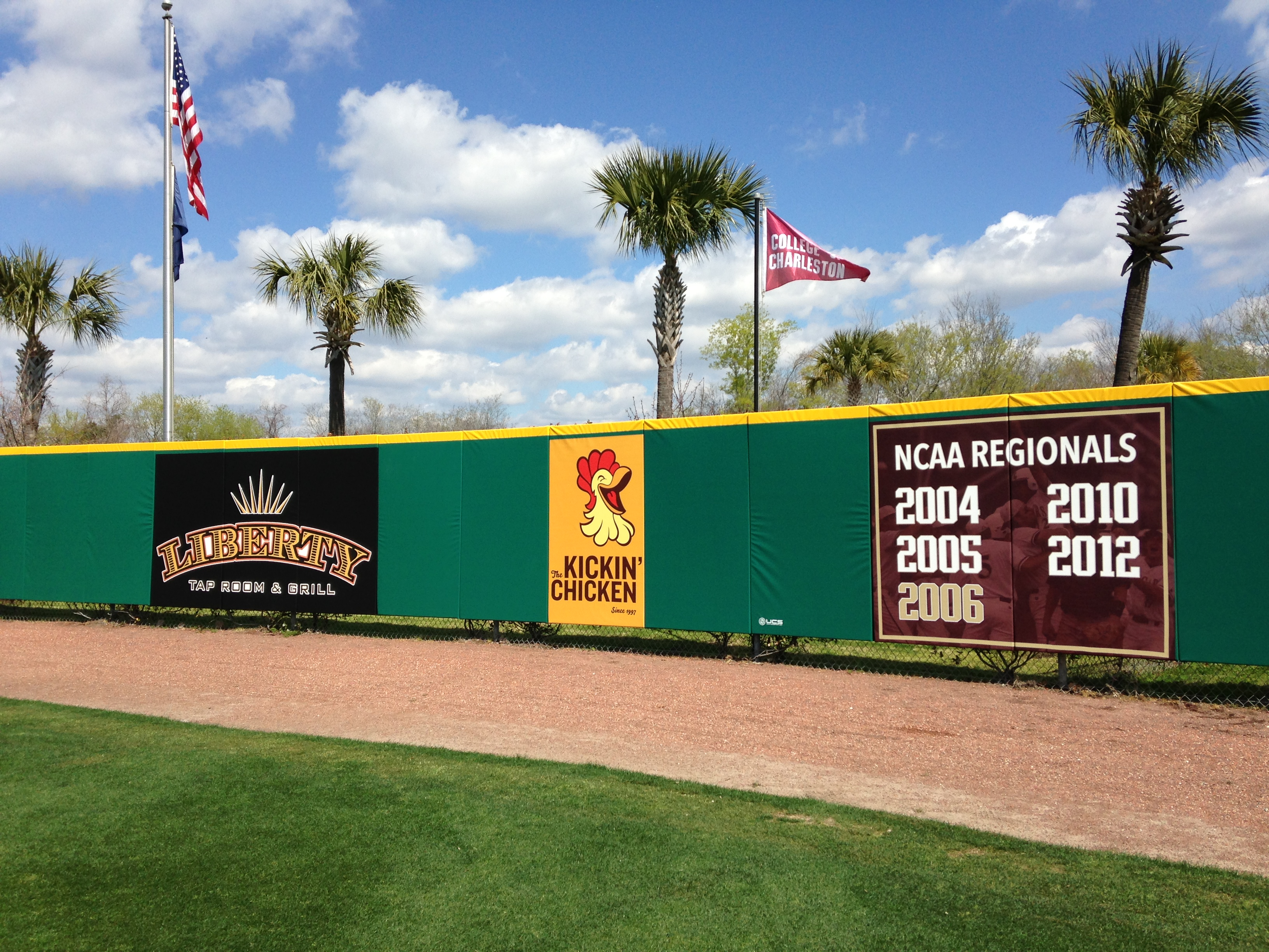 Outfield Wall At CofC